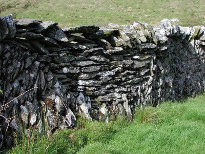 Slate wall at Cow Castle, Barle Valley, Exmoor