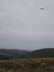 WWII Auster aircraft above Hameldown